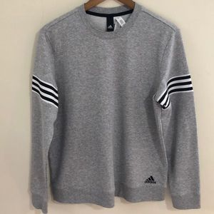 ADIDAS Sz L Gray Crew Neck Sweater